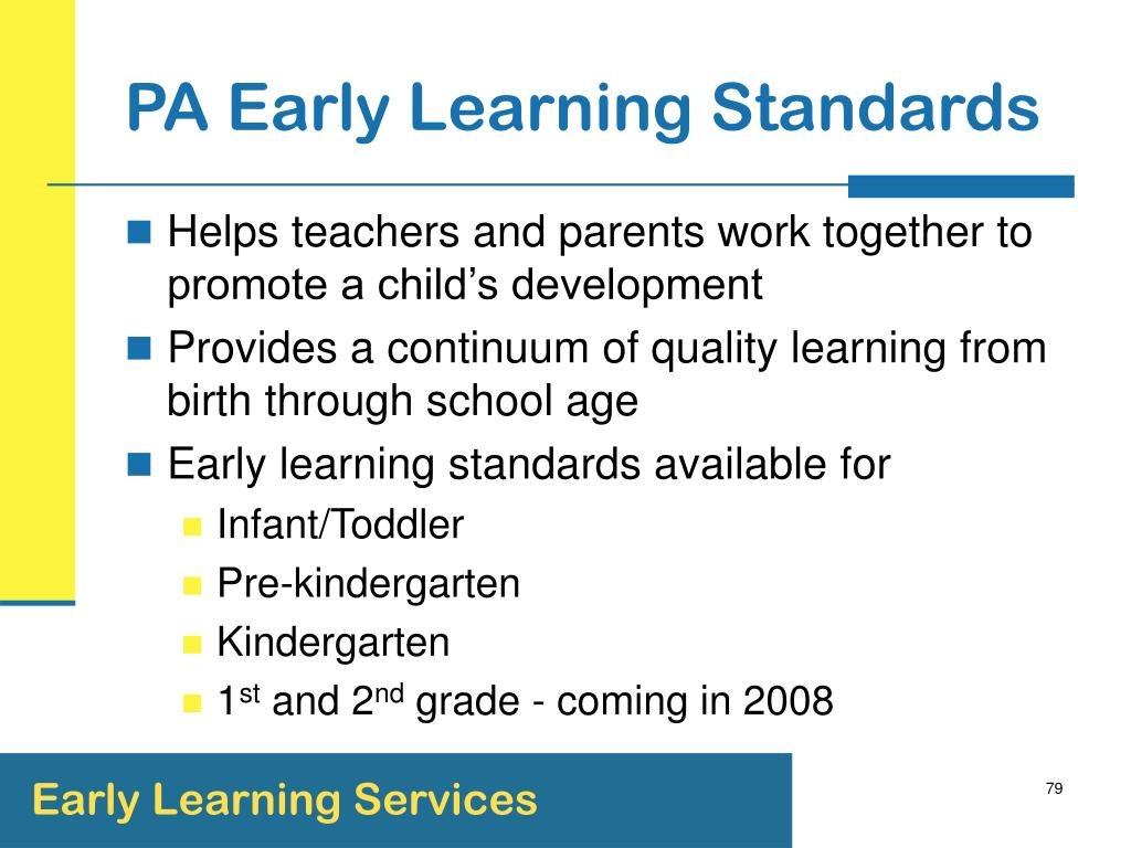 PA Early Learning Standards