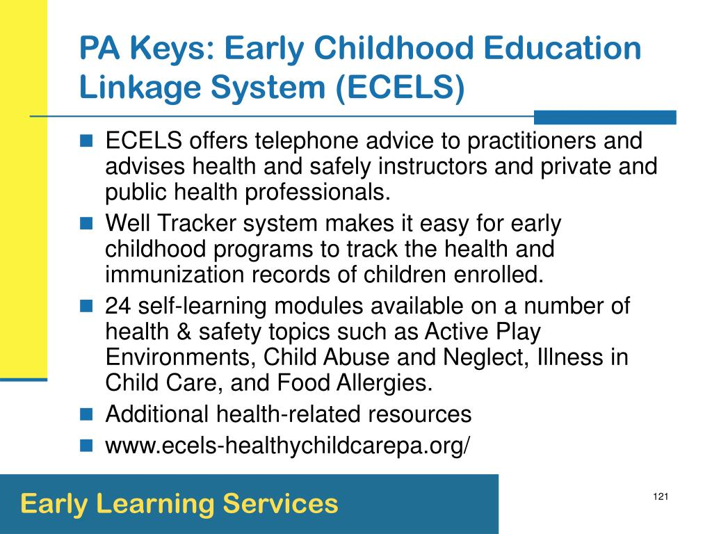 PA Keys: Early Childhood Education Linkage System (ECELS)
