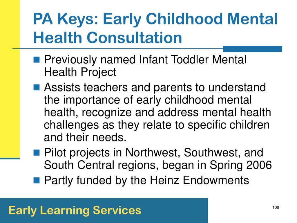 PA Keys: Early Childhood Mental Health Consultation