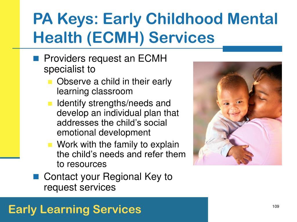 PA Keys: Early Childhood Mental Health (ECMH) Services