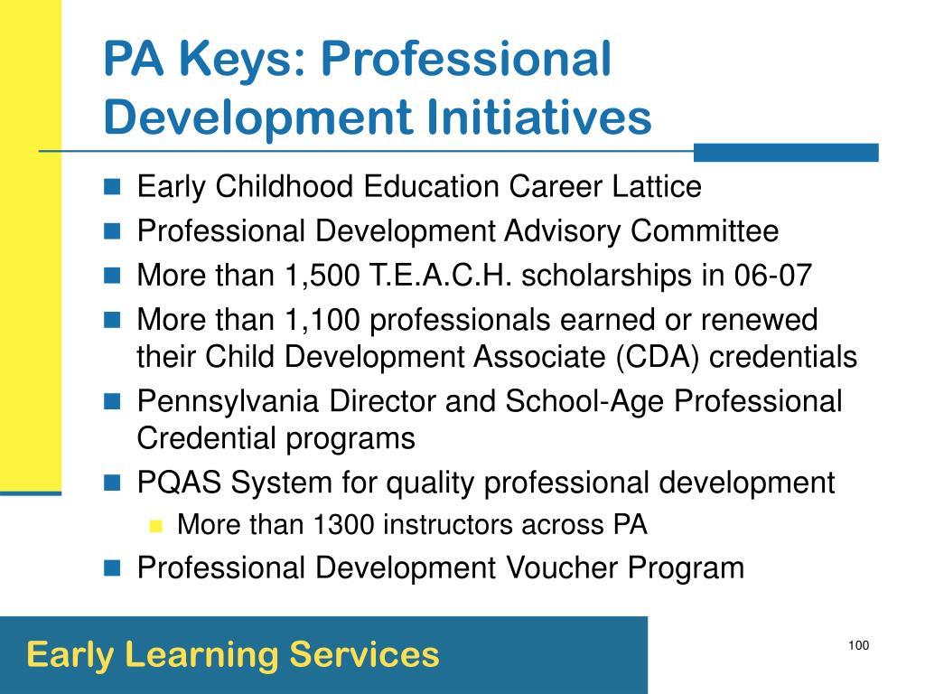 PA Keys: Professional Development Initiatives