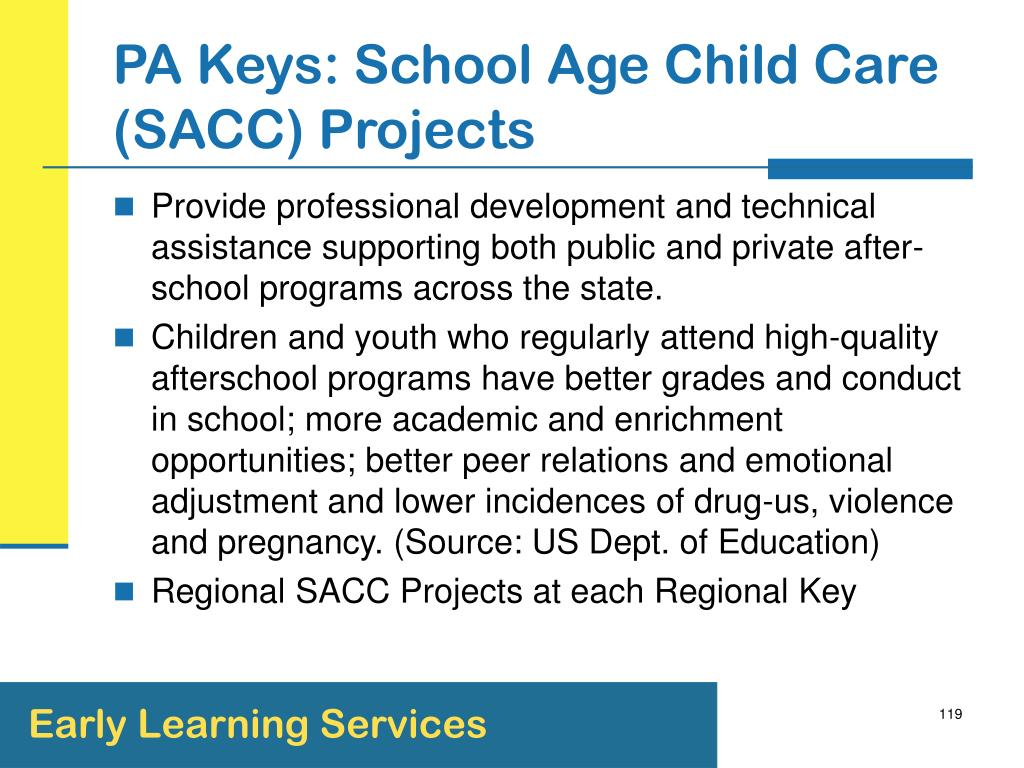 PA Keys: School Age Child Care (SACC) Projects