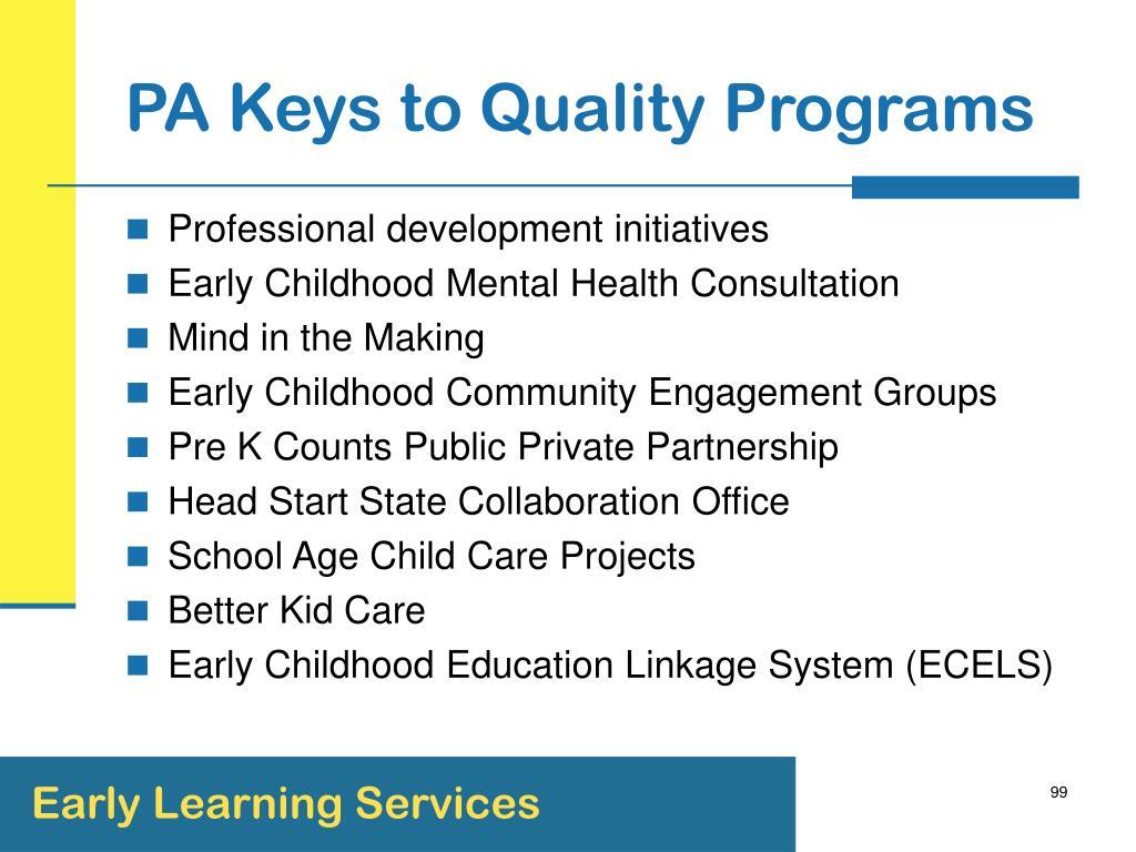 PA Keys to Quality Programs