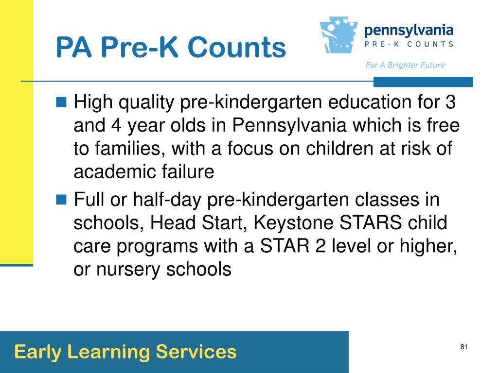 PA Pre-K Counts