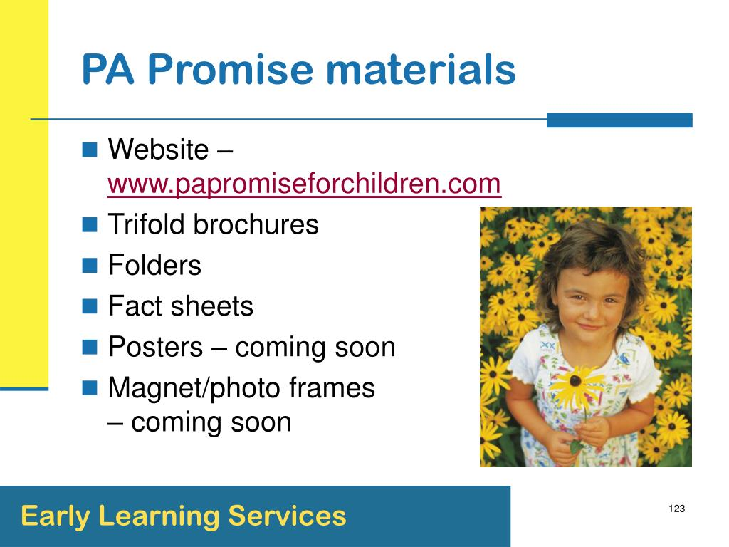 PA Promise materials