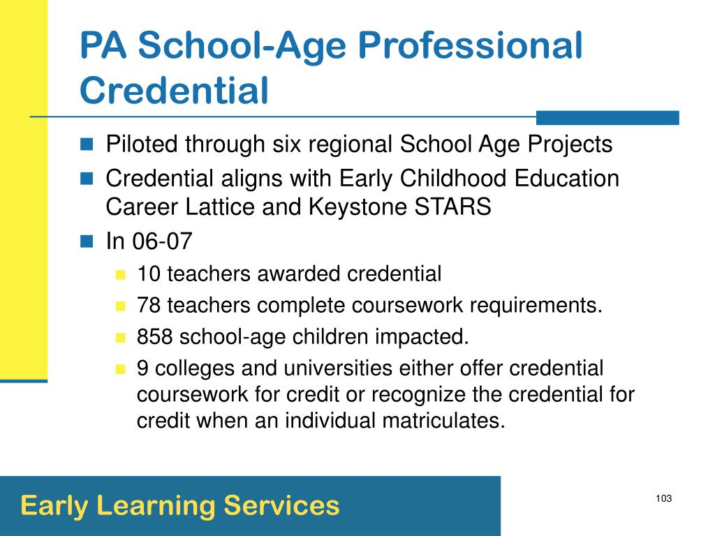 PA School-Age Professional Credential