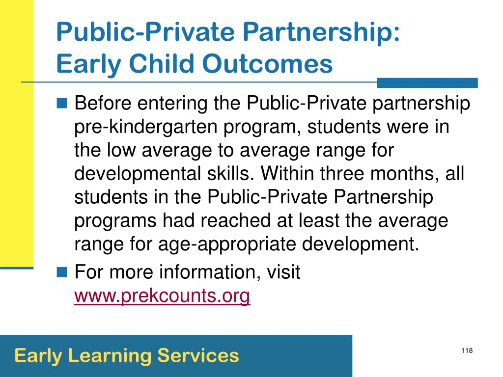 Public-Private Partnership: Early Child Outcomes