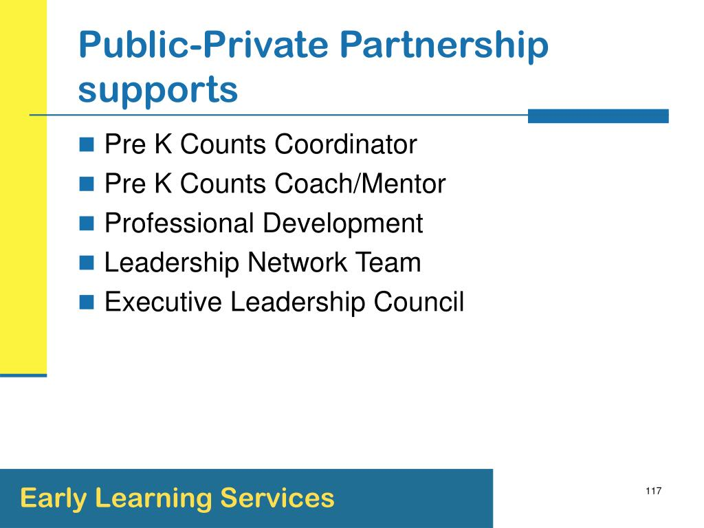 Public-Private Partnership supports