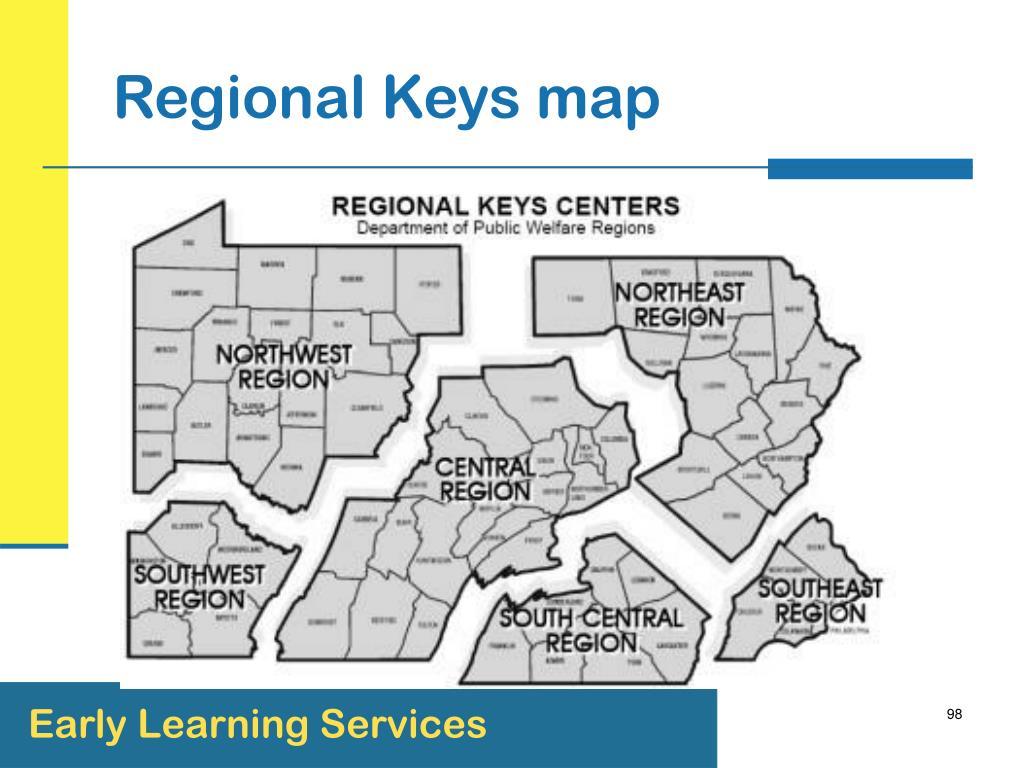 Regional Keys map