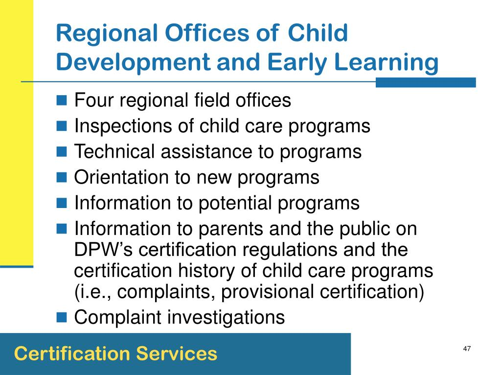 Regional Offices of Child Development and Early Learning