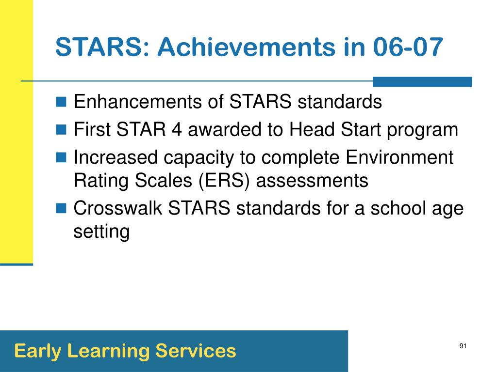 STARS: Achievements in 06-07