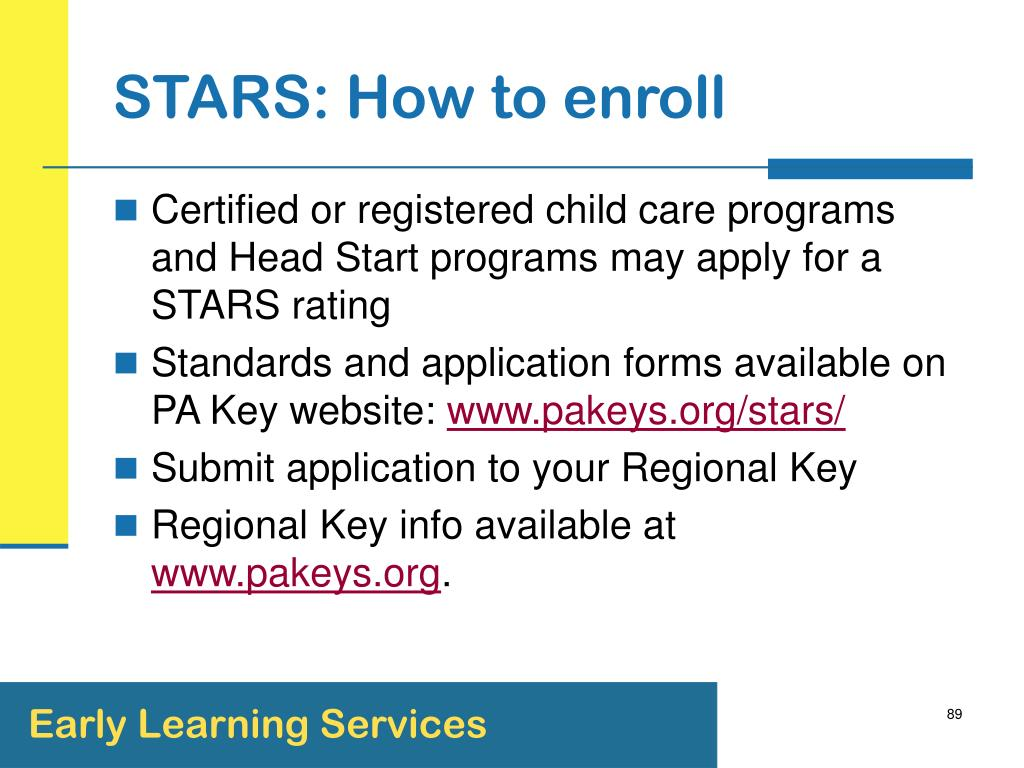 STARS: How to enroll