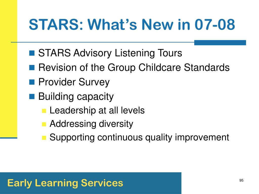 STARS: What's New in 07-08