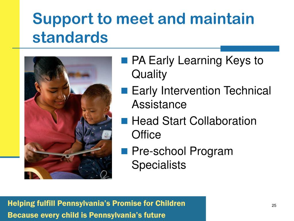 Support to meet and maintain standards