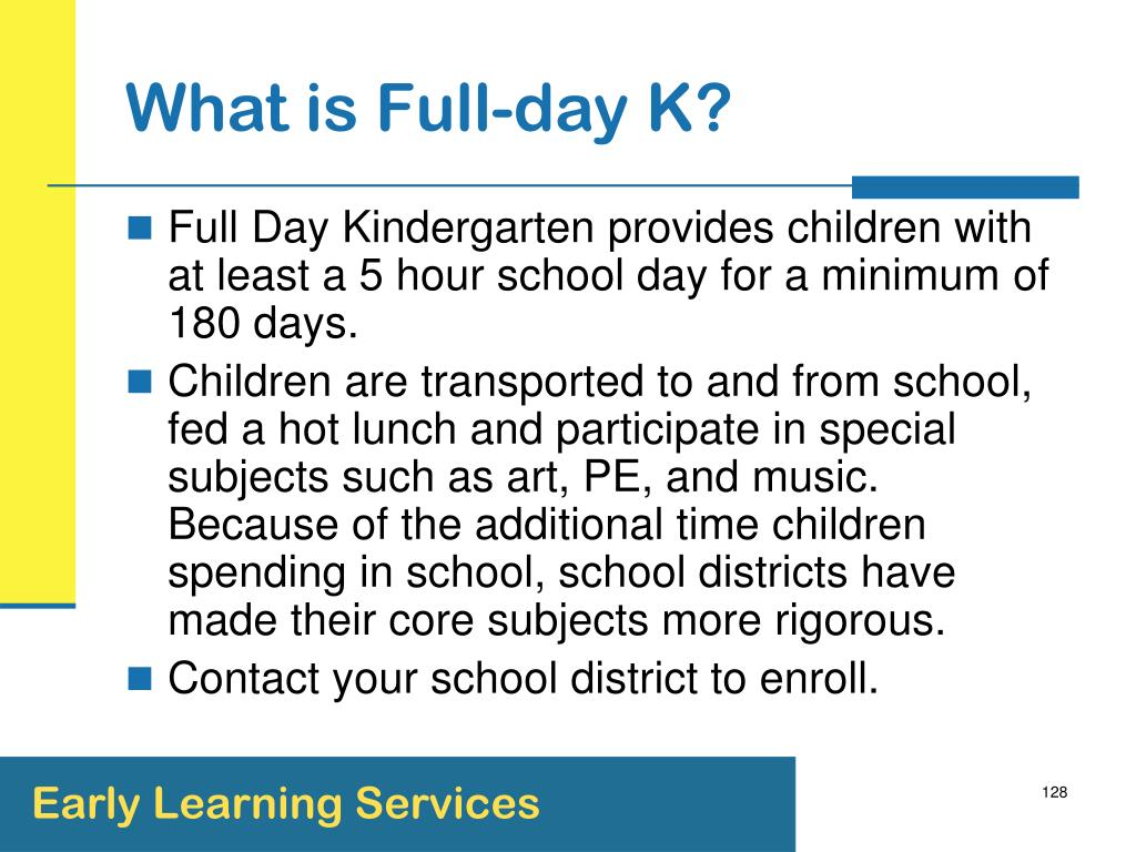 What is Full-day K?