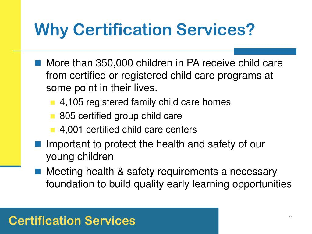 Why Certification Services?
