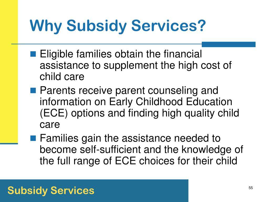 Why Subsidy Services?
