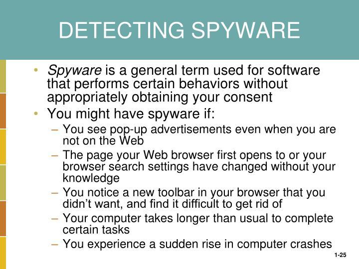 DETECTING SPYWARE