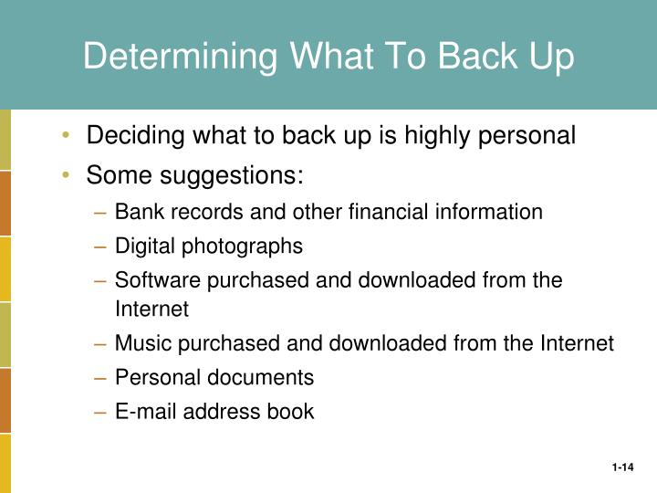 Determining What To Back Up
