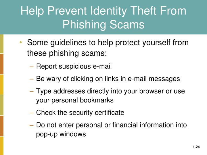 Help Prevent Identity Theft From Phishing Scams