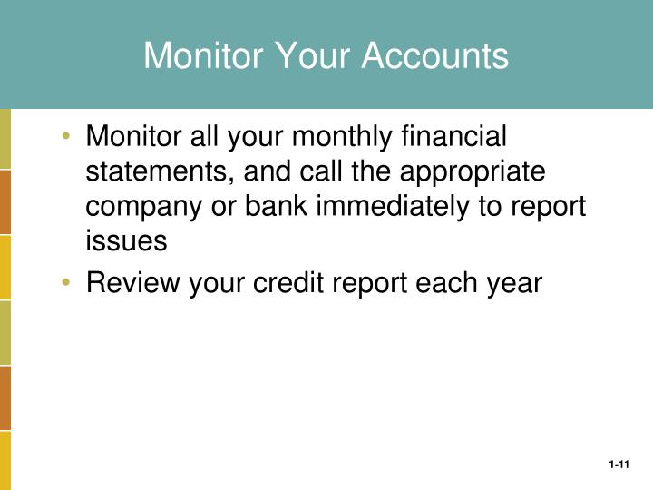 Monitor Your Accounts