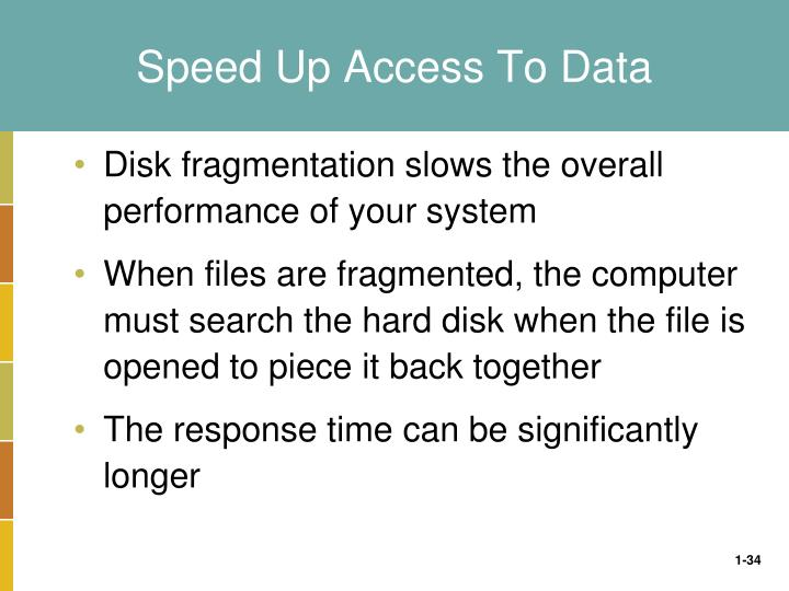 Speed Up Access To Data