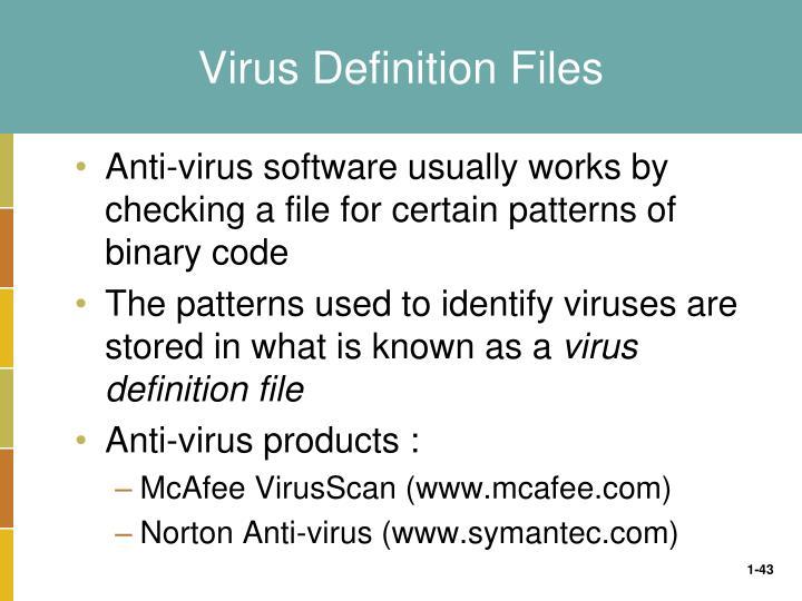 Virus Definition Files