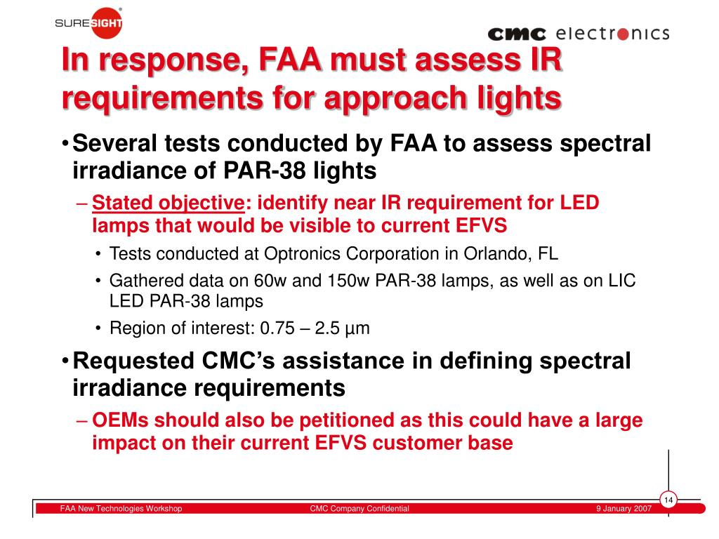 In response, FAA must assess IR requirements for approach lights