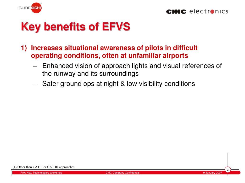 Key benefits of EFVS