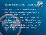 grupo international diversification