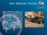 raw materials division