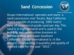 sand concession