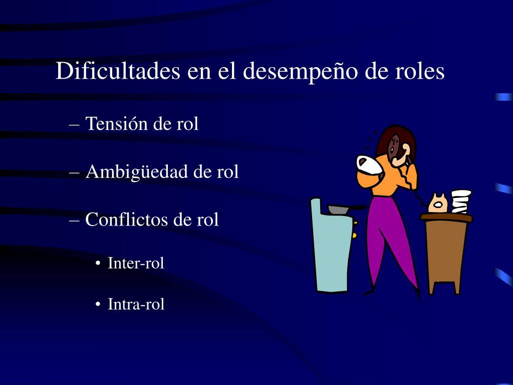 Dificultades en el desempeño de roles