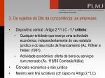 3 os sujeitos do dto da concorr ncia as empresas