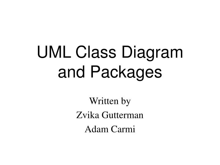 uml class diagram and packages n.