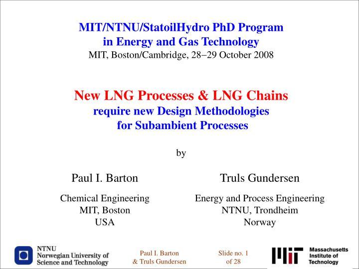 MIT/NTNU/StatoilHydro PhD Program