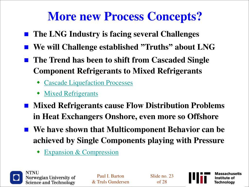 More new Process Concepts?