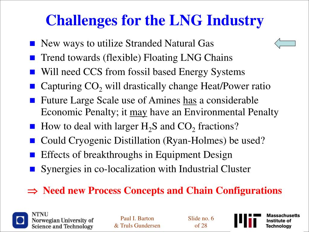 Challenges for the LNG Industry