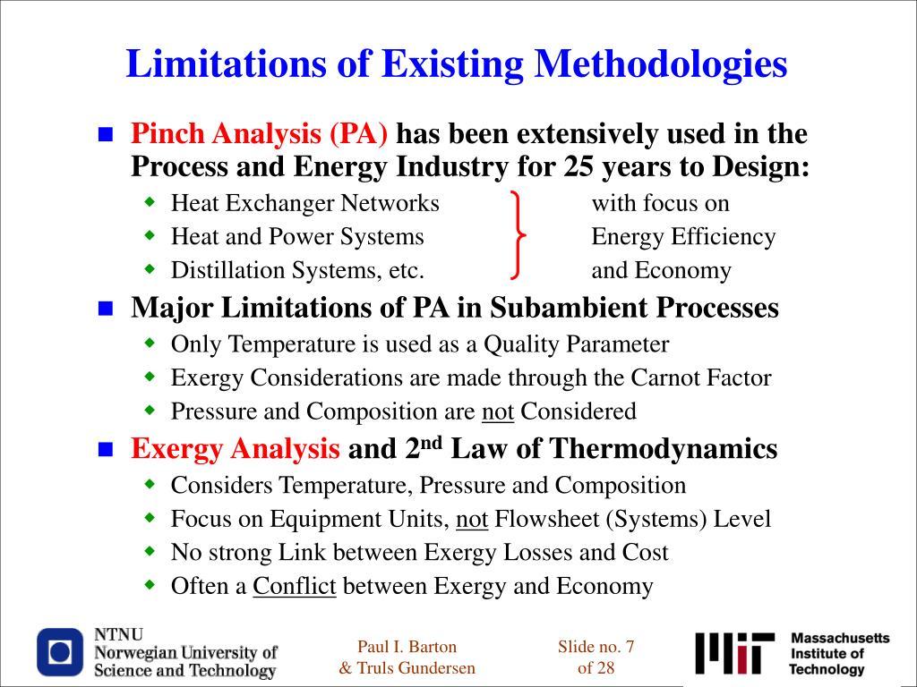 Limitations of Existing Methodologies
