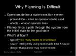 why planning is difficult