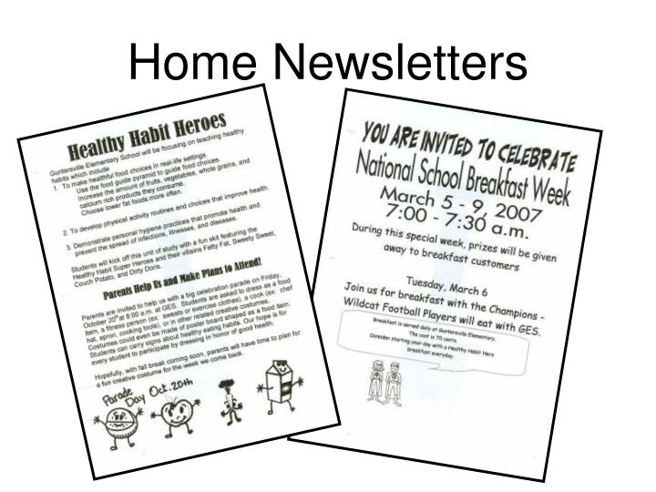 Home Newsletters
