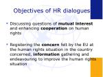 objectives of hr dialogues