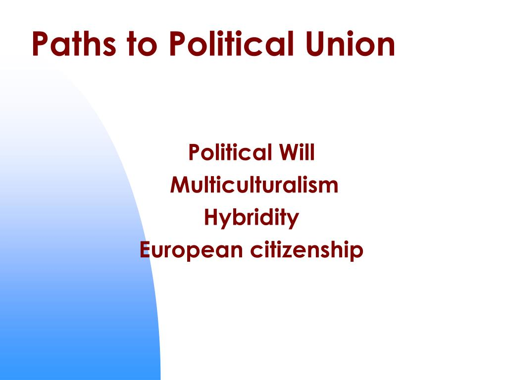 Paths to Political Union