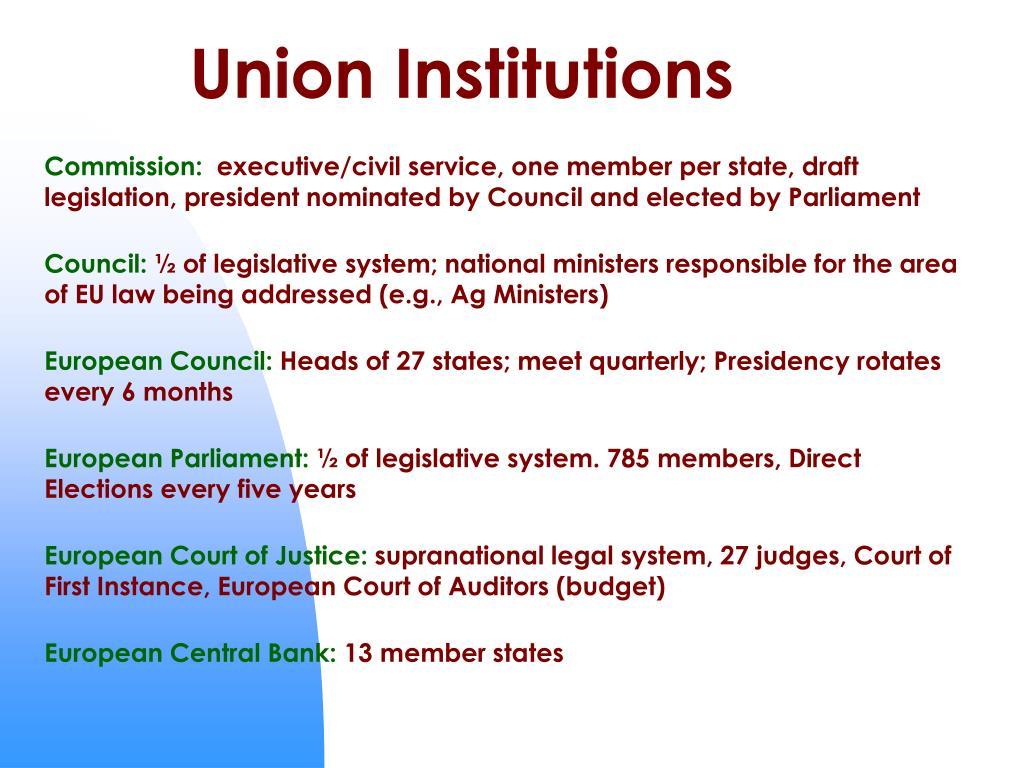 Union Institutions
