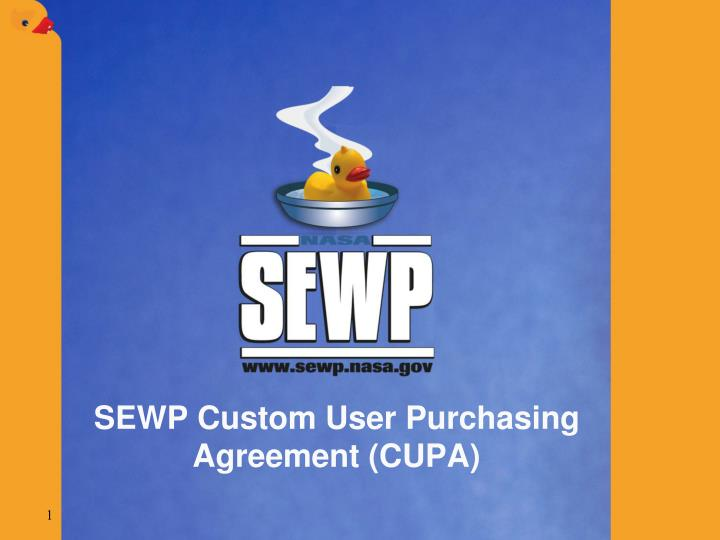 Sewp custom user purchasing agreement cupa