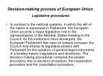 decision making process of european union legislative procedures