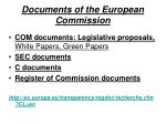 documents of the european commission