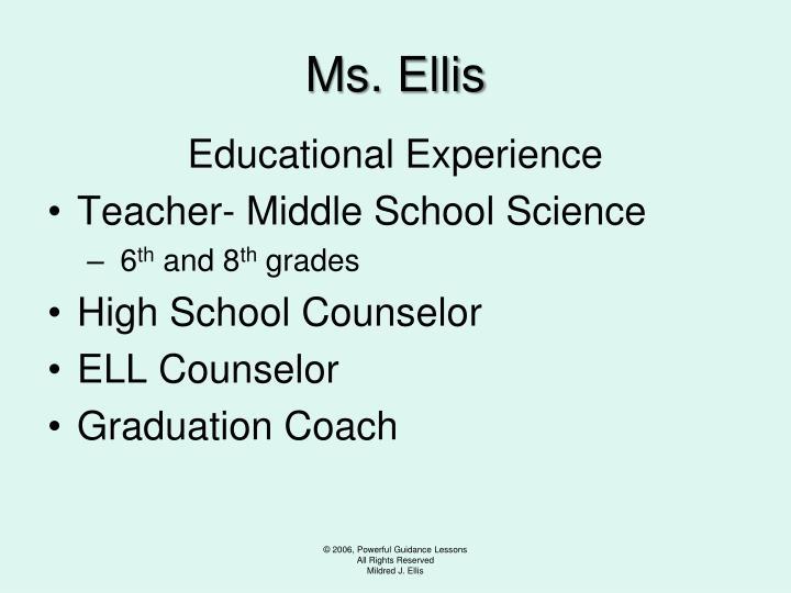 Ms ellis