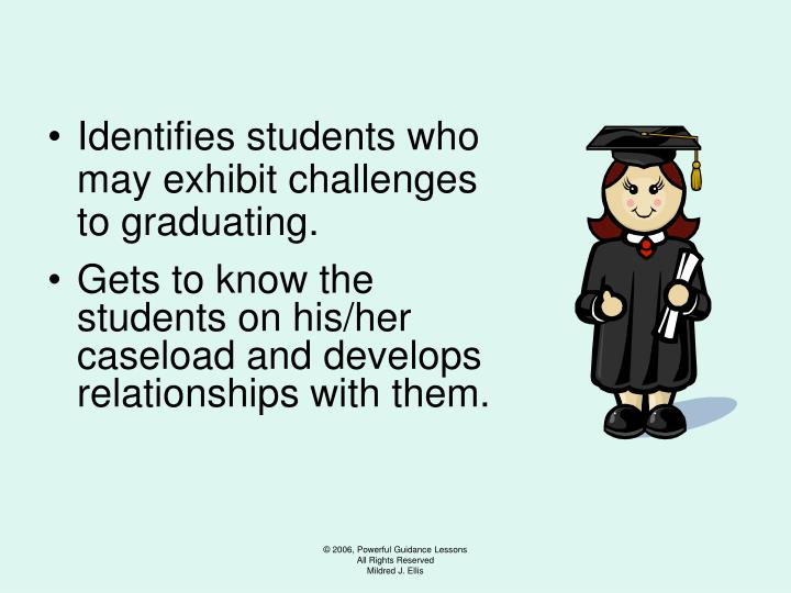Identifies students who may exhibit challenges to graduating.