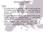 the european union goals